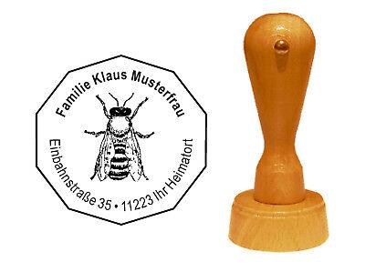 Stempel « Imker » Adressenstempel Motivstempel Holzstempel Honig Biene 01