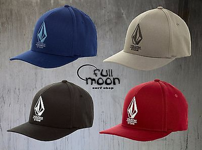 New Volcom Miter Mens XFit Full Stone Flex Cap Hat (Mens Full Stone)