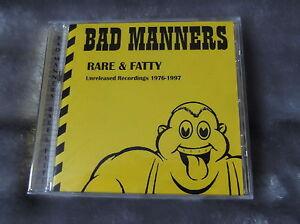 BAD MANNERS rare & fatty CD ska skinhead specials madness 2 tone reggae