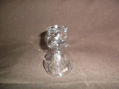 Anchor Hocking Glass Quaffer Barbell Double Bubble Layered Shot Glass Shooter