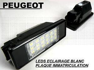 PEUGEOT-208-LEDS-ECLAIRAGE-BLANC-XENON-PLAQUE-IMMATRICULATION-HDi-GTi-THP-VTi