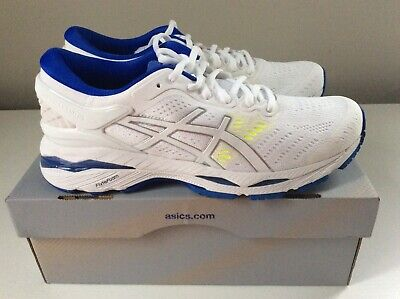 NEW Asics Gel-Kayano 24 Women's Running Shoes - White/Blue - Sz 8
