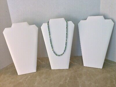 Jewelry Display Stands White 12.5 Inches For A Necklace Lot Of 3