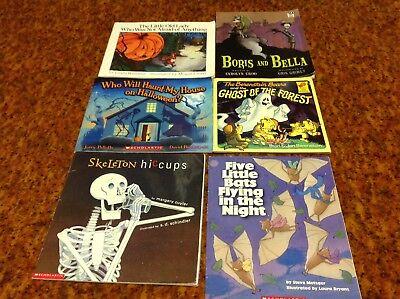 Lot of 6 Children Preschool Books Fall Halloween Boris & Bella  Little Old - Old Children's Halloween Books