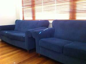 Home Clearance - Navy Blue - 2 seat Freedom sofa couch Ivanhoe Banyule Area Preview