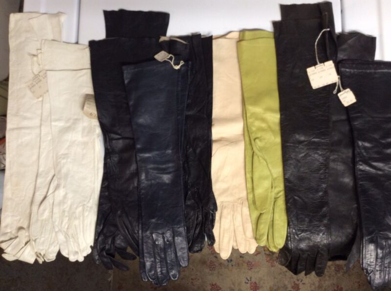 Eleven(11) Pairs of Vintage Unused Size 6 1/2 Christian Dior Kid Leather Gloves