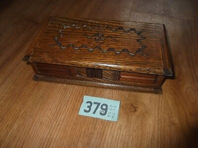 VINTAGE  WOODEN  JEWELLERY BOX