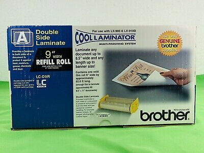 Genuine Brother Lc-d9r Cool Laminator 9 Refill Roll Film Double Side Laminate