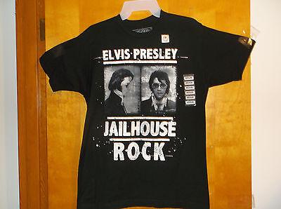 New Mens Live Nation  Elvis Presley Jailhouse Rock    Black S S T Shirt