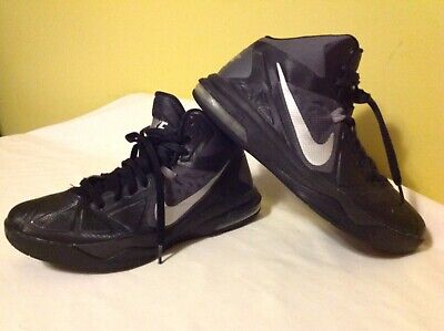 Men's Nike Air Max Body U TB Basketball Shoes ~ Size 8 ~ Black Silver 599418-002