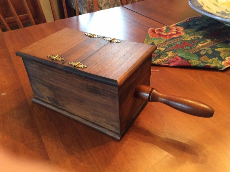 Vintage ELKS CLUB Wood Hinged Secret Ballot Voting Box - Very Nice