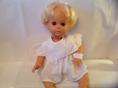 """VINTAGE FIRST LOVE BABY DOLL, 16"""", SLEEP EYES, DRESSED"""