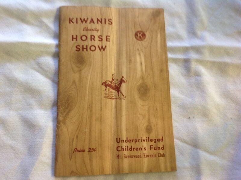 1938 Kiwanis Club Horse Show Program, Kingston, Pa.