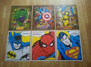 Choice-of-Comic-Book-Superhero-Mini-Poster-Print-Batman-Superman-Marvel-DC
