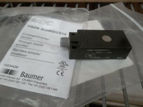 Baumer USDK 30D9003/S14 Ultrasonic Through Beam Sensor USA