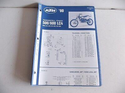 KTM  LC4 500 600  MANUAL OF CHASIS  PARTS  KTM  1990