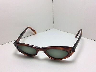 Vivant Eyeglasses FRAMES Cats Eye Brown/Marine 5 3/4 USA Frame Only