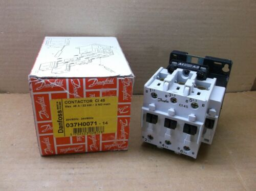 037H0071-14 Danfoss NEW In Box 24VAC 45A Contactor Relay 037H007114