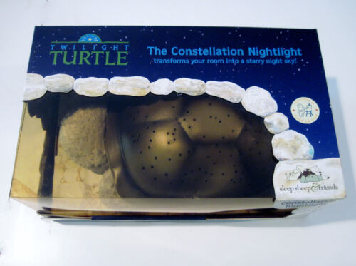 Twilight Turtle Constellation Nightlight Bronze Shell NIB blue green white light