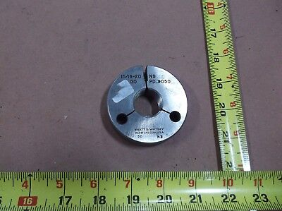 1516-20 Ns Thread Ring Gage Machinist Inspection Tooling Lathe Gopd .9050