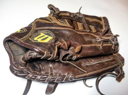 "Wilson A800 Baseball Glove 11 .5"" Optima Dark Brown Leather"