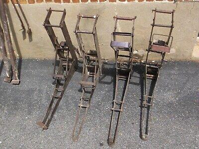 Lot Vintage Steel Pump Jacks Scaffolding