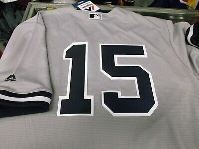 Thurman Munson 15NY Yankees Majestic Cool Base Road Jersey PLUS FREE VINTAGE CDS
