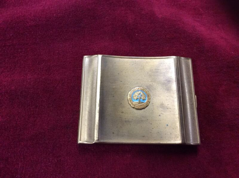 VINTAGE POWDER COMPACT WITH NATIONAL CONGRESS OF PARENTS  & TEACHERS 1897 PIN