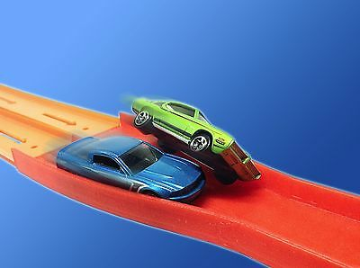 2-Lane Raceway Elimination Crash Merger (For Hot Wheels Car Track) 2to1 Reducer