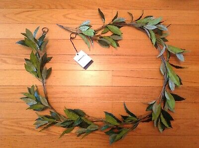Christmas Fireplace Garland (~New-With-Tag~ Hearth & Hand Magnolia 6' BAY LEAF GARLAND)