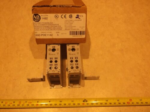 LOT OF 2 Allen Bradley 1492-PDE1142 Ser A 200A Power Distribution Block