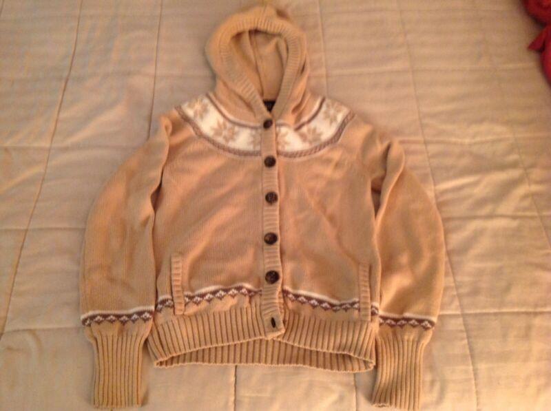 Gap Kids Girls Hooded Button Down Sweater XXL Size: 14-16