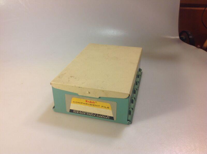 Vintage 1960s Kodak 35mm Slides Metal Compartment File