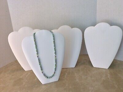 Jewelry Display Stands White 11 Inches For A Necklace Lot Of 4