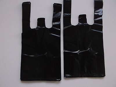 31 Ct Plastic Shopping Bags T Shirt Type Grocery Black Small Size Bags.