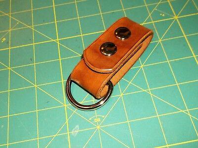 """Leather Belt Strap, Knife Sheath Dangler, 1 1/2"""" D ring fit 3"""" Belt, Pack Strap"""