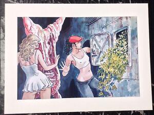 Milo Manara PRINT Limited Edition Pinup Art Nude Erotic Continued Meat Locker