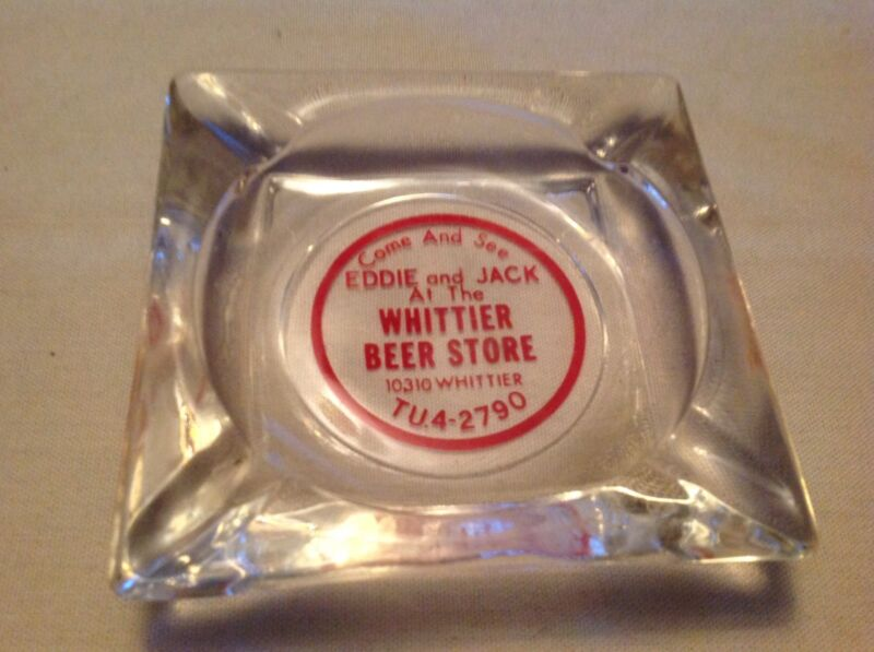 Whittier Beer Store Vintage Ashtray, 1950