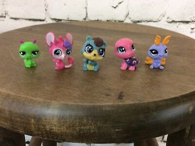 Littlest Pet Shop LPS Lot Of 5 Turtle Bug Current Style Small Accessories