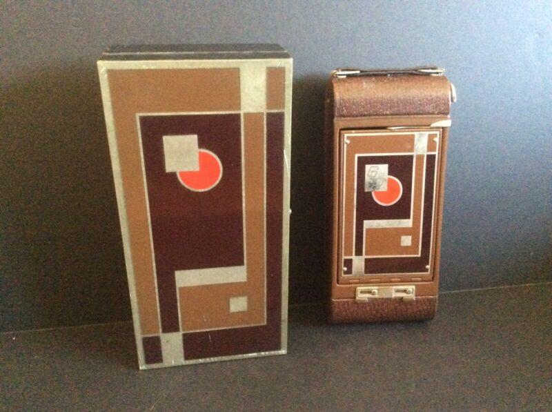 Walter Dorwin Teague Kodak #1A Art Deco Camera In Case