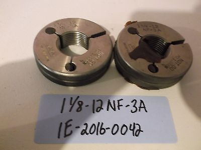 1-18-12-nf-3a Thread Ring Gage Machinist Inspection Tooling Lathe