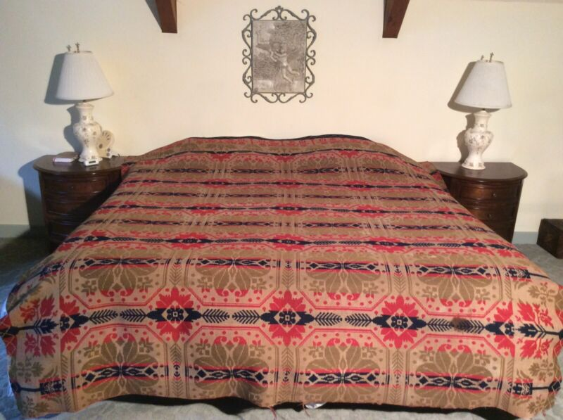 1844 Signed Antique Coverlet