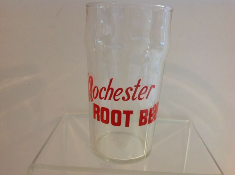 ROCHESTER ROOT BEER GLASS, 1950
