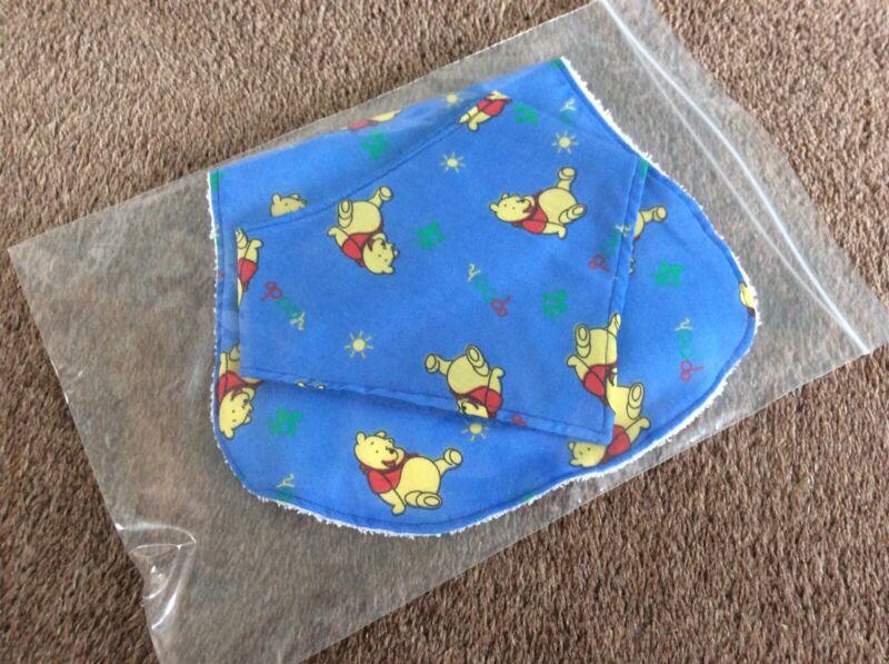 Baby+Burp+Cloth+%26+Bandana+Bib+Set+-+Handmade+-+Winnie+The+Pooh+on+Blue
