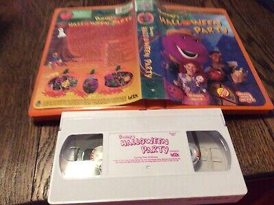 Barney - Barneys Halloween Party (VHS, 1998) USED KIDS FUN FREE US - Barneys Halloween Party