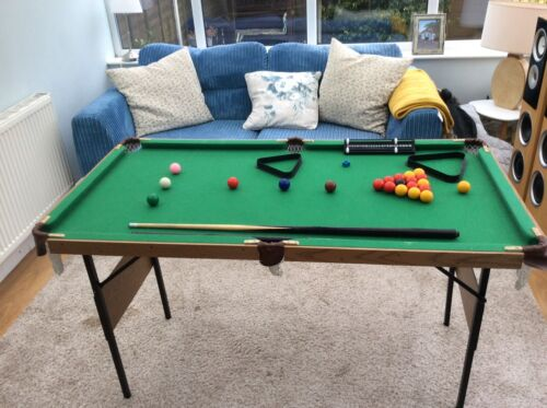 snooker and pool table ideal for kids easy storage legs fold away.
