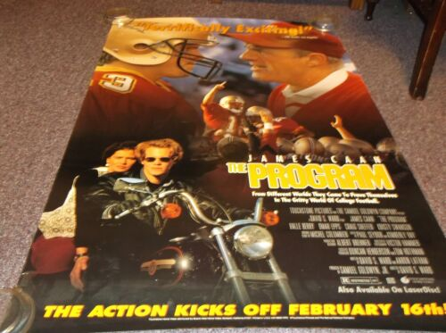 """The Program Video Promo Poster James Caan, approx. 26""""x40"""""""