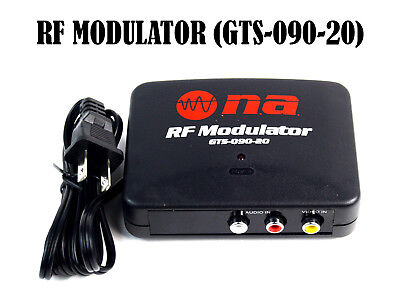RF Modulator TV Switch Audio Video RCA Ant Input to F Type Coax Output Converter ()