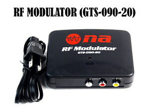 RF Modulator TV Switch Audio Video RCA Ant Input to F Type Coax Output Converter