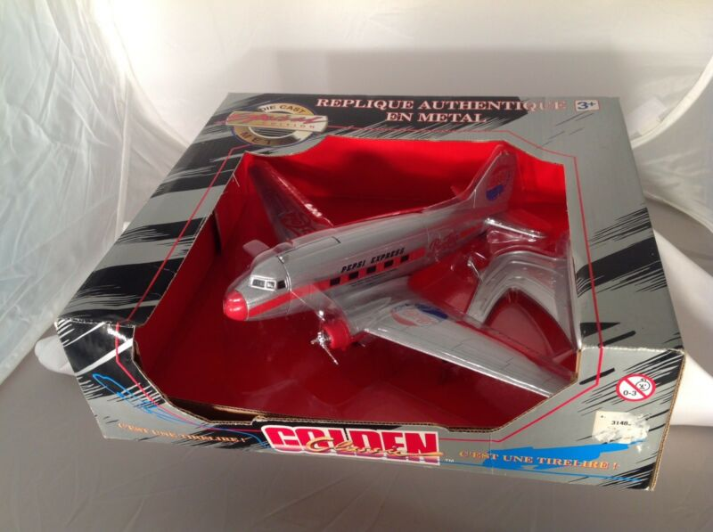Diecast Metal Pepsie Express Airplane Gift Bank New In Box